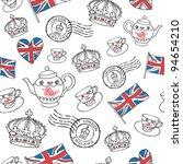 England London Drawing Seamles...