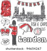 london icons doodles drawing... | Shutterstock .eps vector #94654267