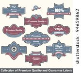 premium quality and guarantee... | Shutterstock .eps vector #94659862