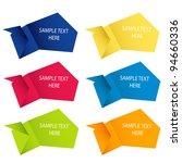 abstract origami speech bubble... | Shutterstock .eps vector #94660336