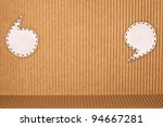 bubble fabric on corrugated paper - stock photo