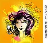 colorful girl | Shutterstock .eps vector #94672432