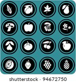 fruits and vegetables set .... | Shutterstock . vector #94672750