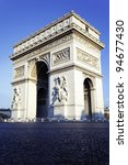vertical view of the arc de... | Shutterstock . vector #94677430