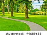 beautiful golf course with... | Shutterstock . vector #94689658