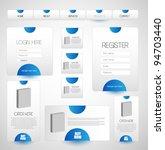 navigation bar with web elements | Shutterstock .eps vector #94703440