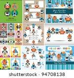 cartoon robot card | Shutterstock .eps vector #94708138