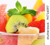 Healthy fruit salad mix - stock photo