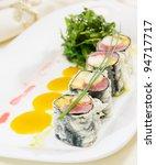 japanese cuisine  tempura maki... | Shutterstock . vector #94717717