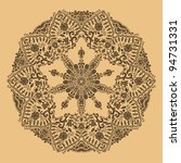 ornamental round lace pattern.... | Shutterstock .eps vector #94731331
