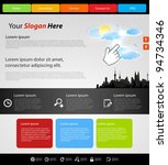website modern template  city... | Shutterstock .eps vector #94734346