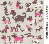 background with dogs | Shutterstock .eps vector #94735549