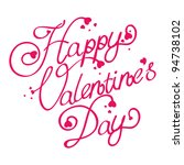 happy valentine's day text   Shutterstock .eps vector #94738102