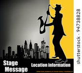 retro city sax player  vector... | Shutterstock .eps vector #94738828
