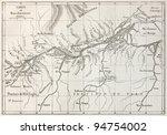 lower amazon basin old map.... | Shutterstock . vector #94754002