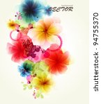 abstraction floral background | Shutterstock .eps vector #94755370