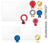 ribbons rosette badge and blank ... | Shutterstock .eps vector #94758427
