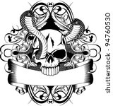 vector illustration skull and... | Shutterstock .eps vector #94760530