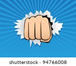 breaking through | Shutterstock .eps vector #94766008