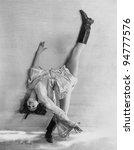 Flexible Dancer Bending Over...