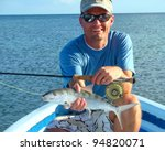 Saltwater Fly Fisherman With...