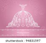wedding dress | Shutterstock .eps vector #94831597