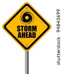 storm warning sign  vector... | Shutterstock .eps vector #94843699