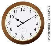 round wall clock in a wooden... | Shutterstock .eps vector #94853479