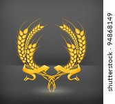 10eps,3d,agriculture,arms,award,background,barley,branch,certified,champion,coat,crop,decoration,design element,emblem