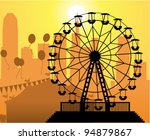 vector silhouettes of a city... | Shutterstock .eps vector #94879867