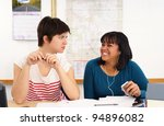 college student is annoyed by... | Shutterstock . vector #94896082