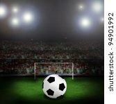 soccer ball on the green field   Shutterstock . vector #94901992