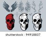skull design set | Shutterstock .eps vector #94918837