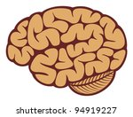 the human brain | Shutterstock .eps vector #94919227