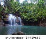 Emerald Color Water In Tier...