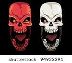 screaming skull set | Shutterstock .eps vector #94923391