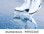 Tilted blue version  ice skates ...