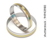 wedding rings in white gold... | Shutterstock . vector #94943980