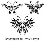 flaming butterflies isolated on ... | Shutterstock .eps vector #94945945