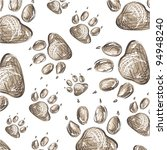 animal paws background pattern... | Shutterstock .eps vector #94948240