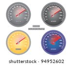 set of mph and kph speedometers ... | Shutterstock . vector #94952602