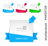 vector banner with ribbon and... | Shutterstock .eps vector #94959739