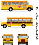 School Bus  In Vector   Set  32