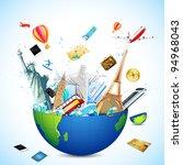 illustration of world famous... | Shutterstock .eps vector #94968043