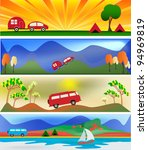 camping and caravaning vector...   Shutterstock .eps vector #94969819