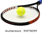 tennis racket and ball over... | Shutterstock . vector #94978399