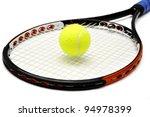 tennis racket and ball over...   Shutterstock . vector #94978399