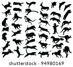Silhouettes Of Animals In The...