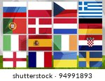 euro 2012 cup group balls on...   Shutterstock . vector #94991893