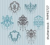 set of ornamental damask... | Shutterstock .eps vector #94992727